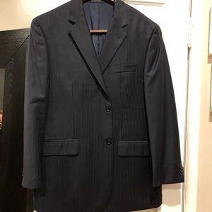 Navy blue Michael Kors pinstripe suit